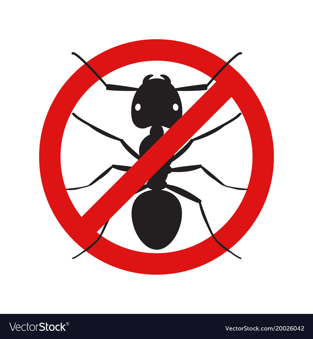 Anti no ant insect symbol