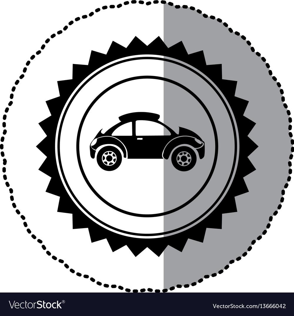 Black star emblem sport car side icon