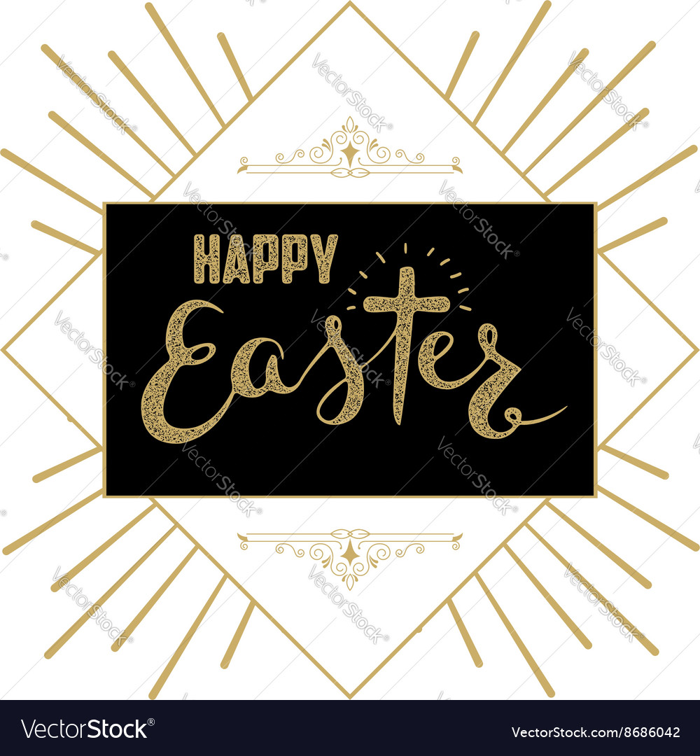 Happy Easter Hand drawn lettering Easter greeting