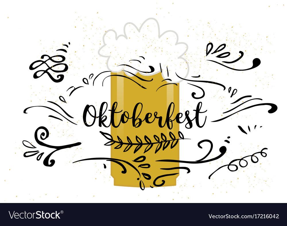 Holiday greetings oktoberfest vector image
