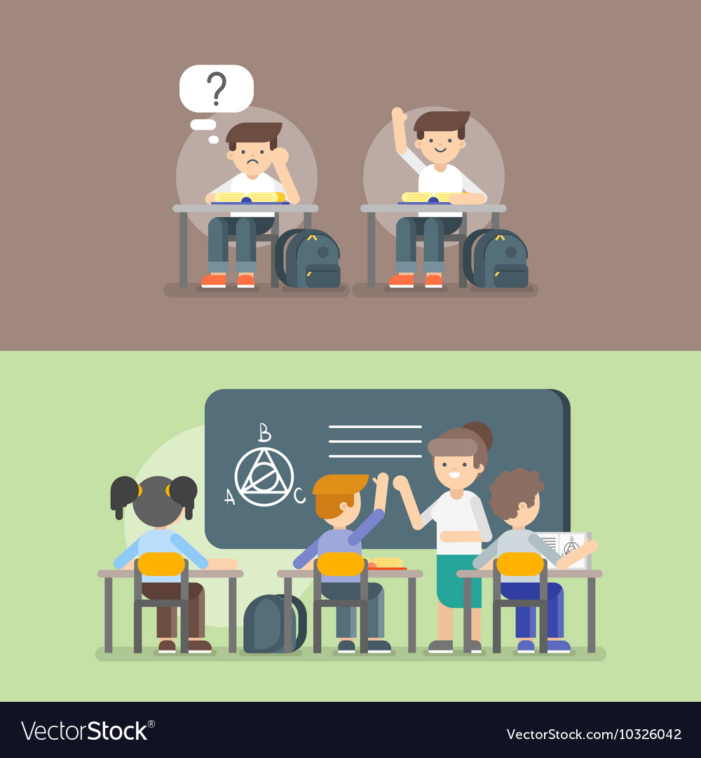 Kids at school Back to school concept