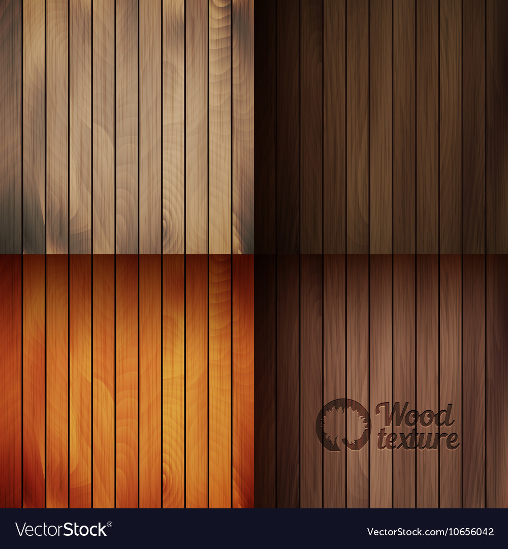 Set of wood texture backgrounds four colors
