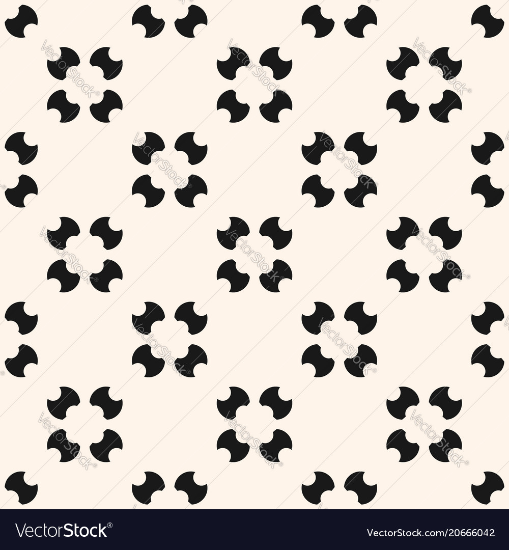 Simple seamless pattern with rounded figures