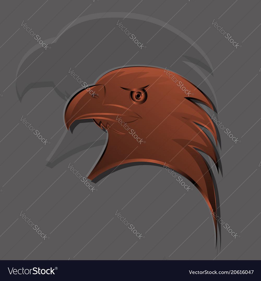 Eagle had logo in bronze gradients with big shadow