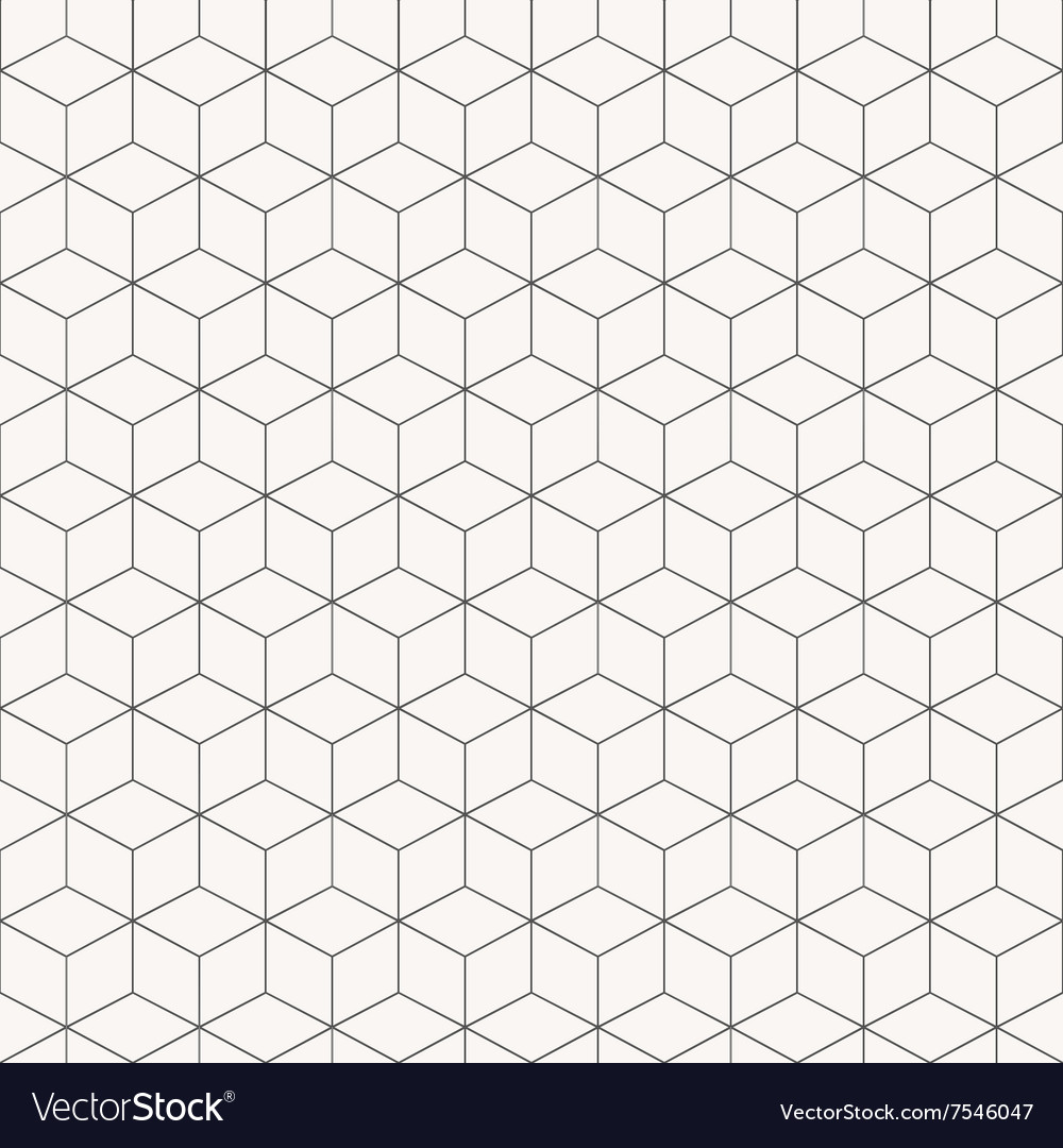 Geometric cubes pattern seamless
