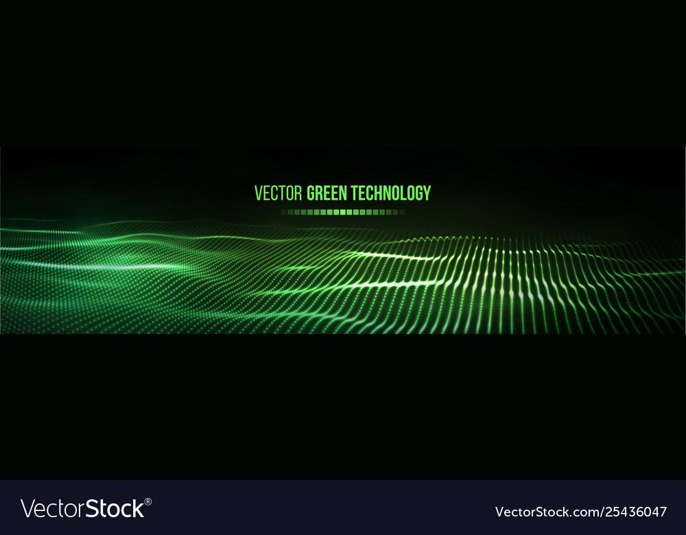 Green technology background futuristic