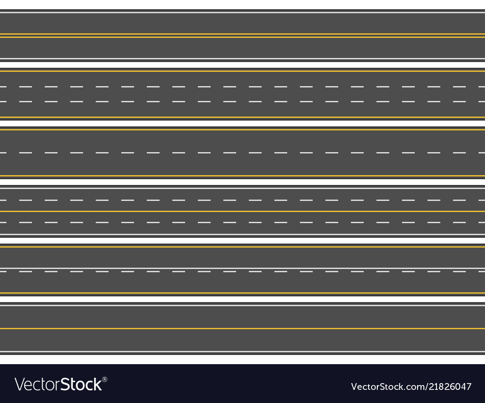 Highway road marking horizontal straight asphalt
