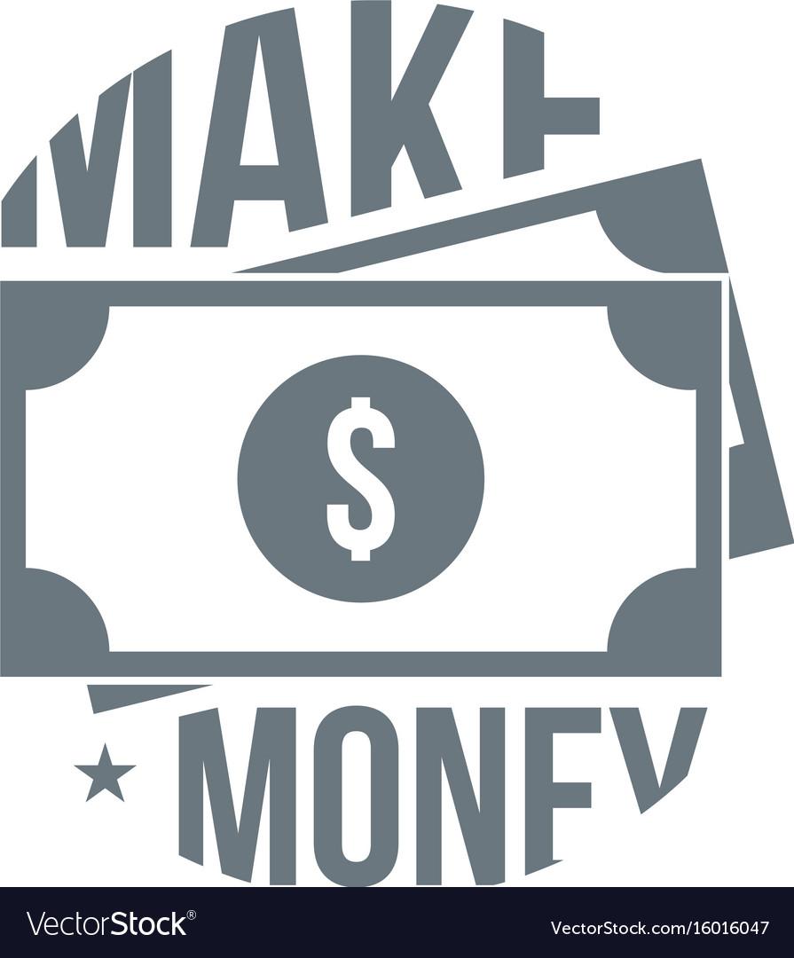 Make money logo simple style vector image