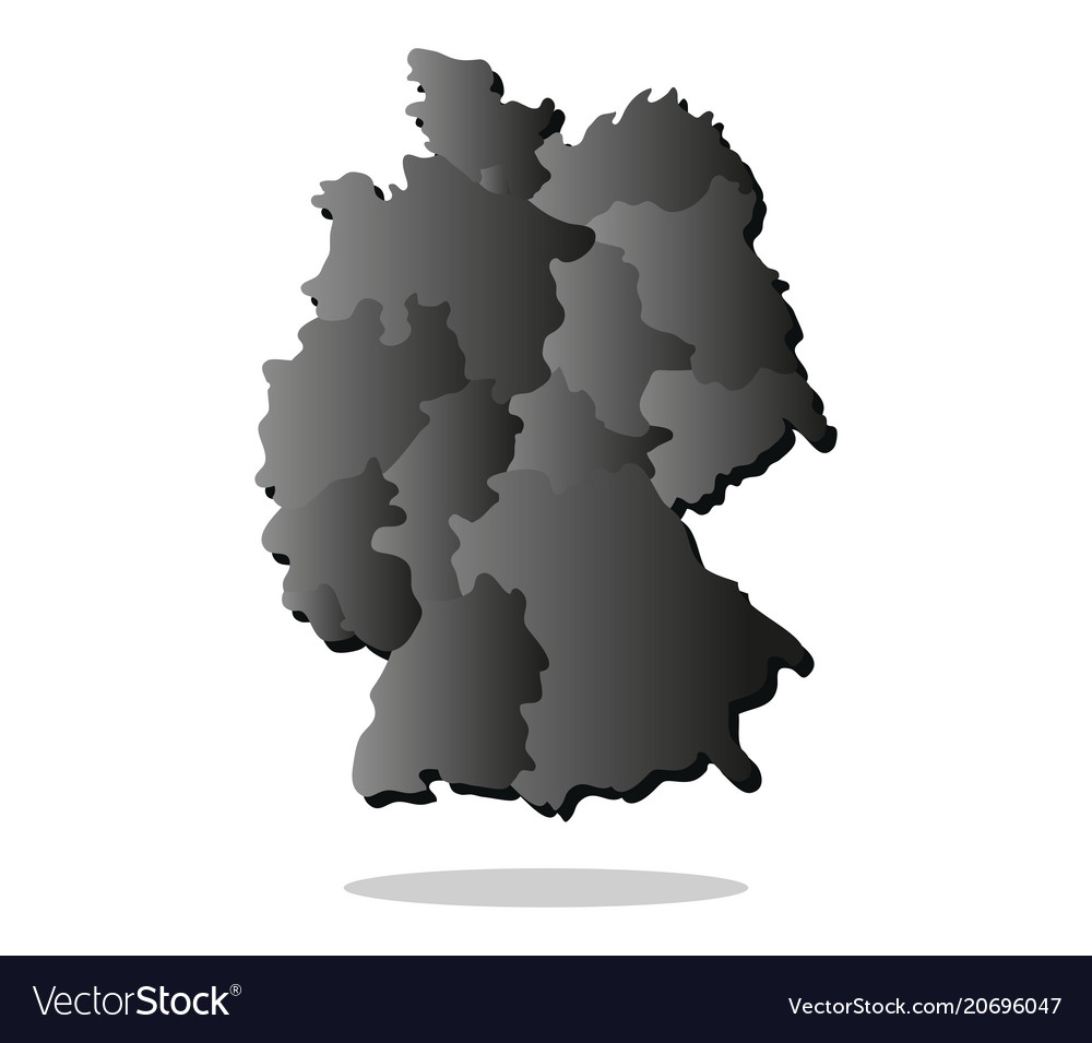 Map Of Germany With Regions.Map Germany With Regions Royalty Free Vector Image