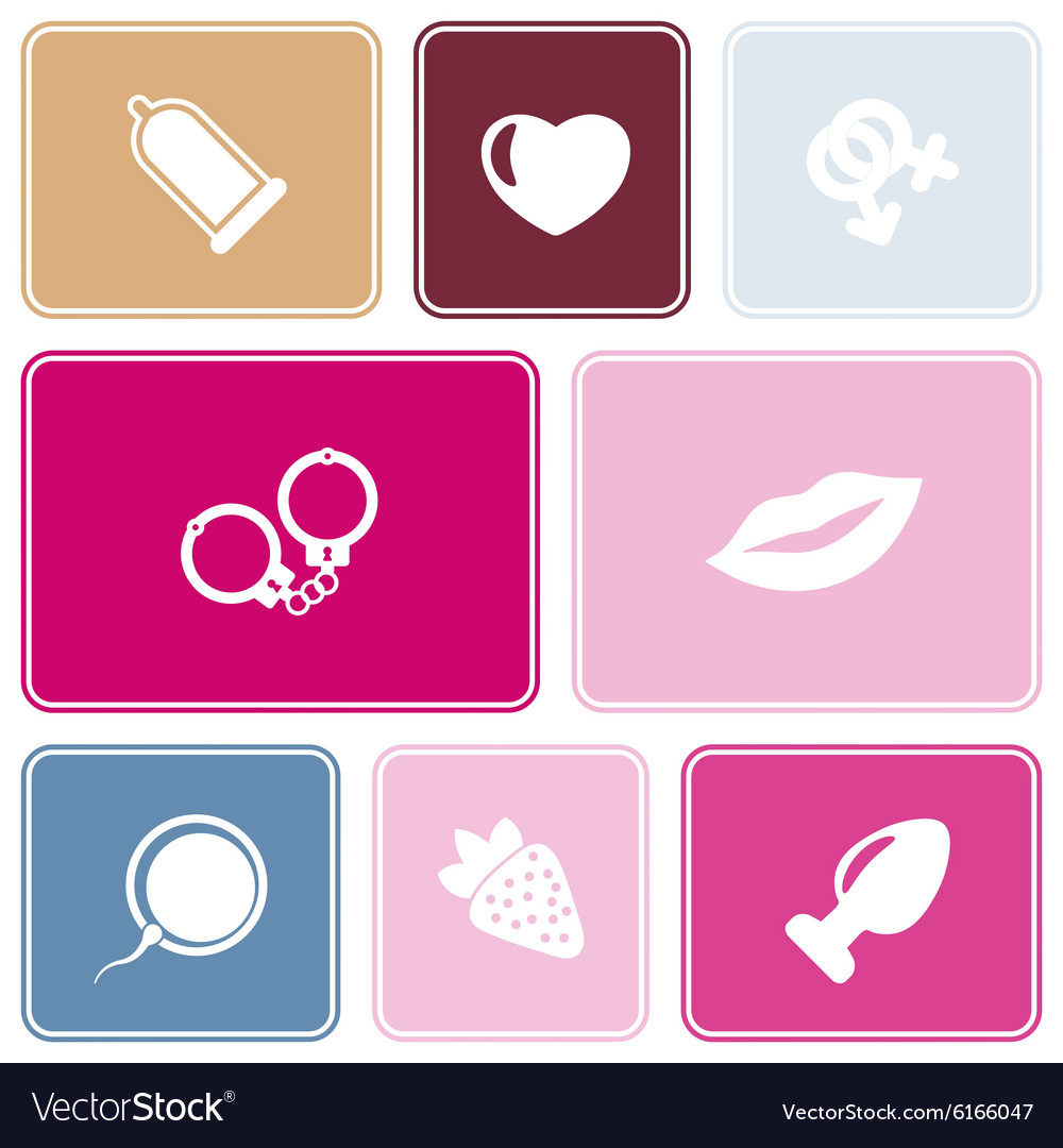 Seamless background with sex symbols vector image
