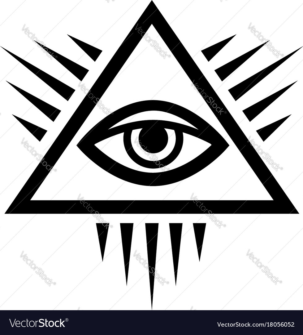 all seeing eye eye of providence royalty free vector image rh vectorstock com All Seeing Eye Vector Masonic Eye Logo Vector