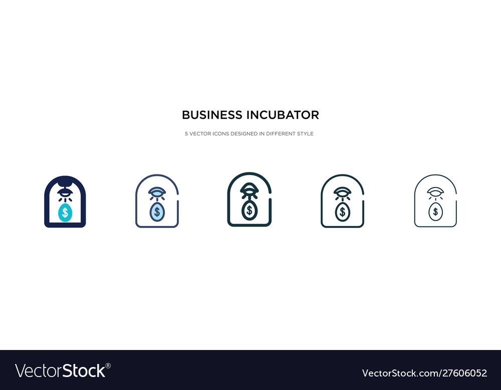 Business incubator icon in different style two