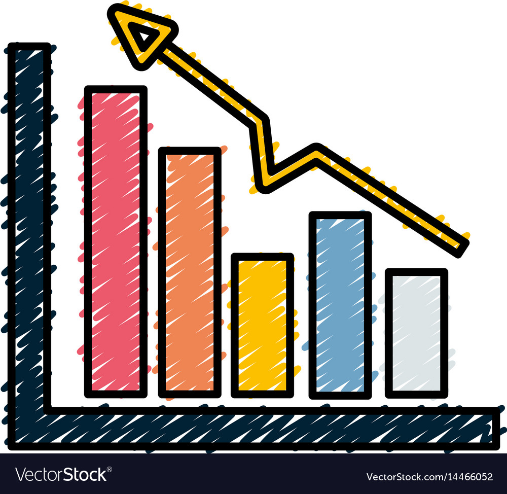 Business statistic data growing diagram vector image