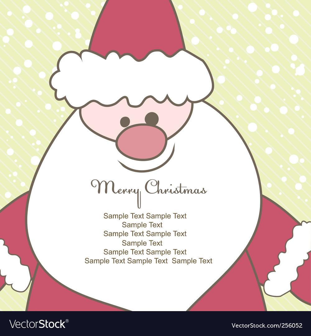 Christmas card with santa illustration