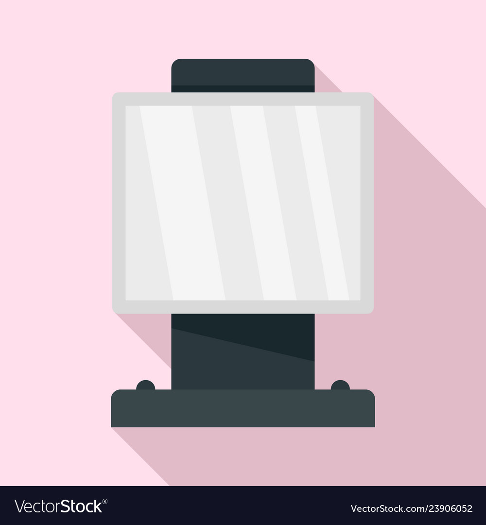 City light box icon flat style