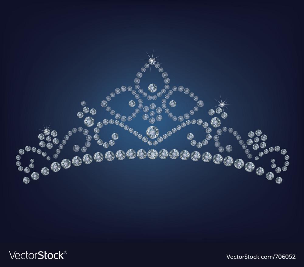 Diamond tiara - vector