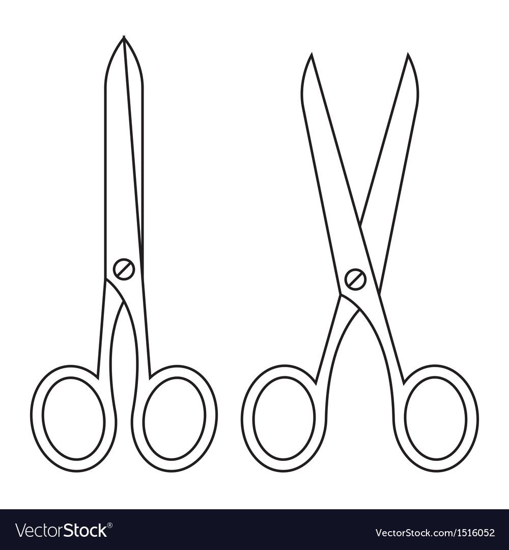 Open and closed scissors
