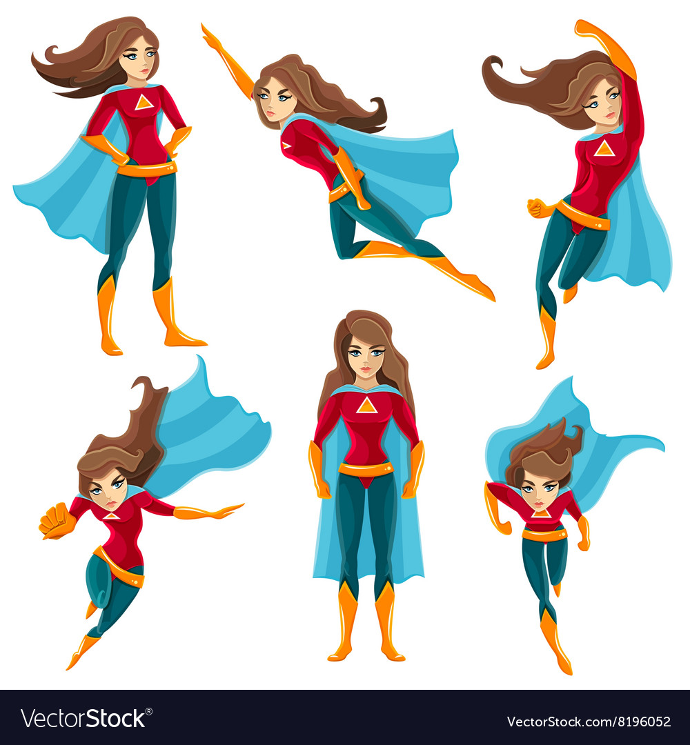 Superwoman Actions Icon Set
