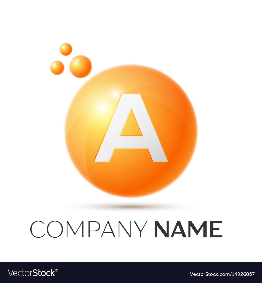 A letter splash orange dots and circle bubble
