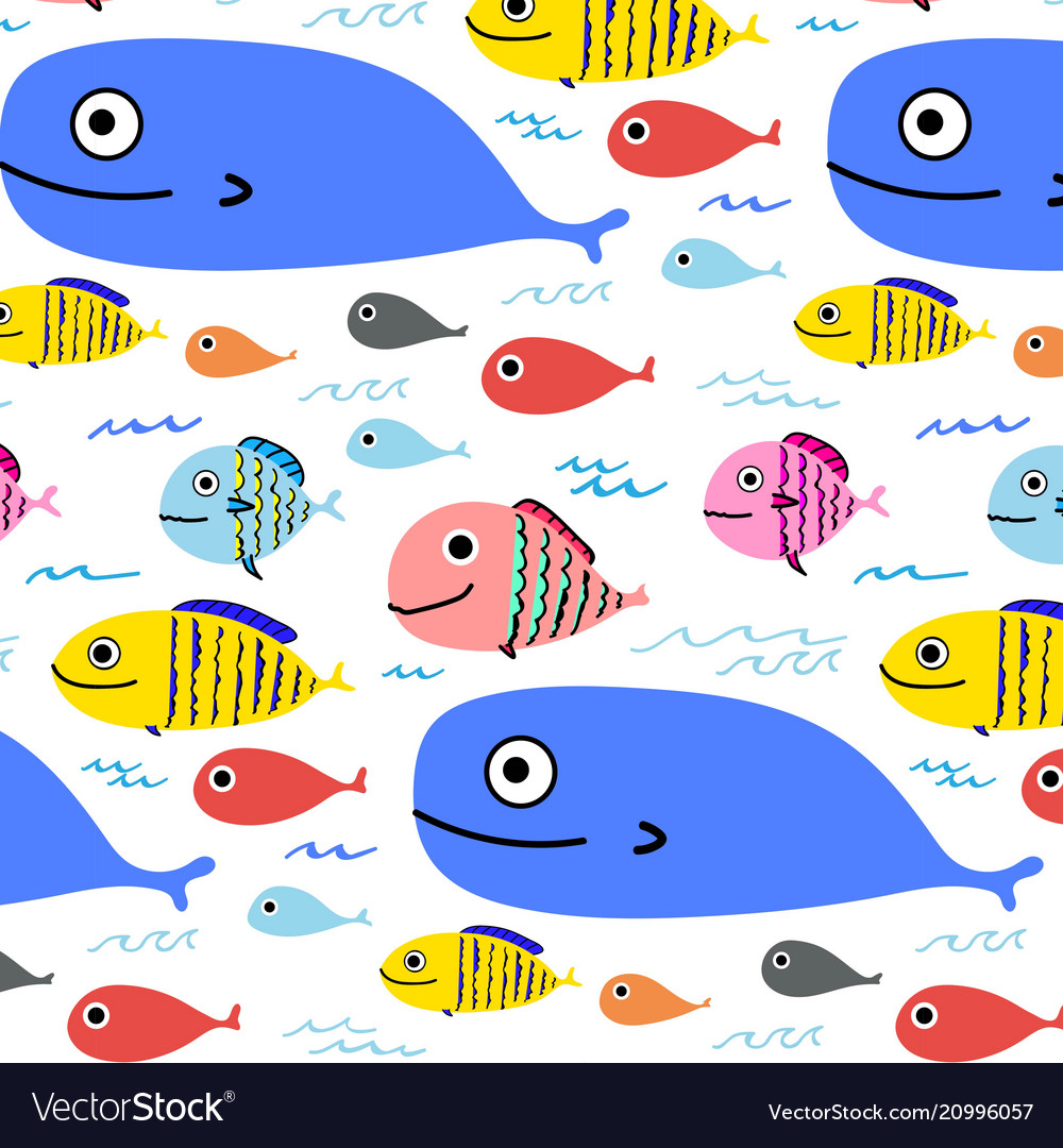 Abstract colorful fish pattern background