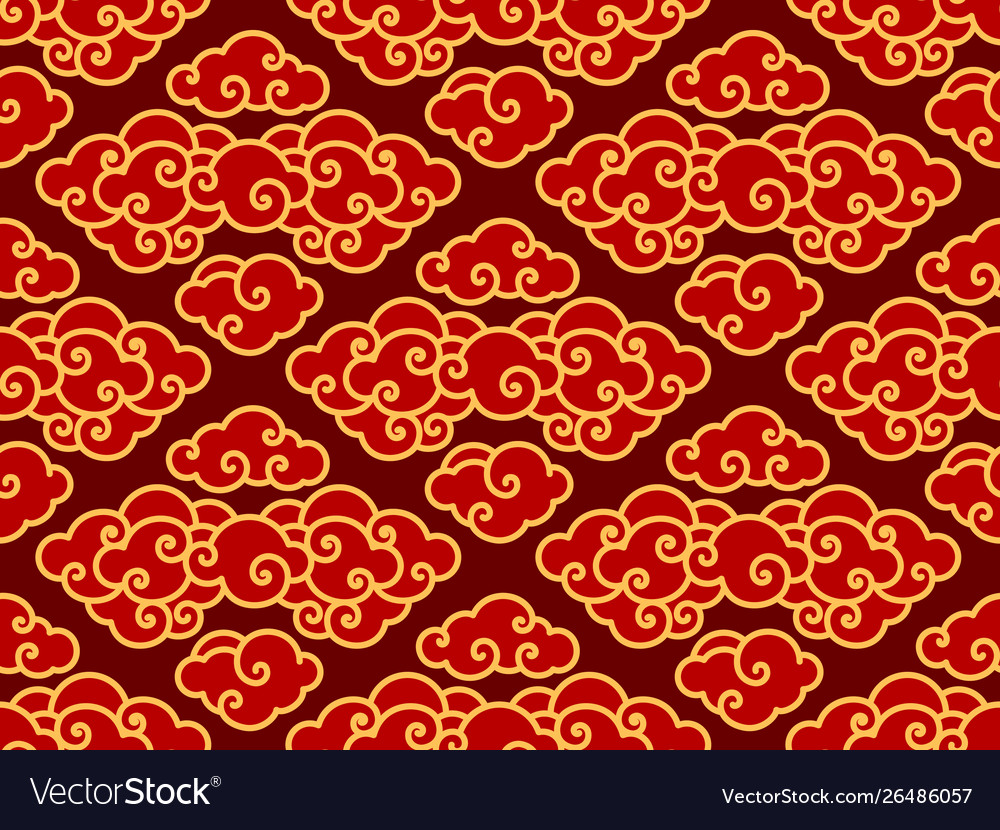 Chinese clouds traditional seamlesswallpaper
