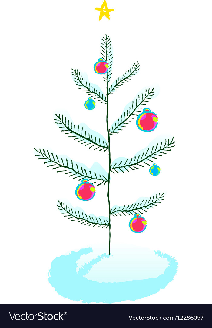 Christmas tree with ball decorations
