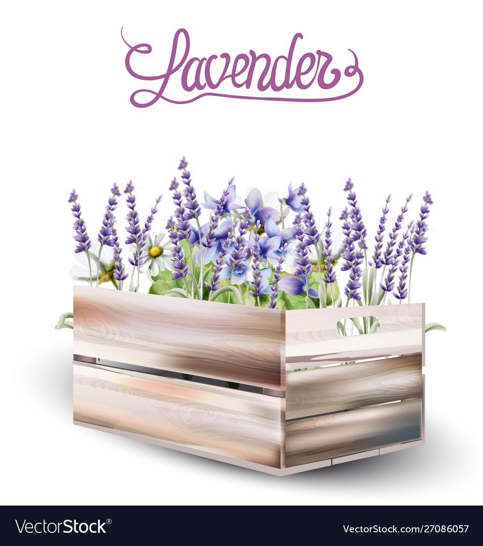 Lavender card watercolor