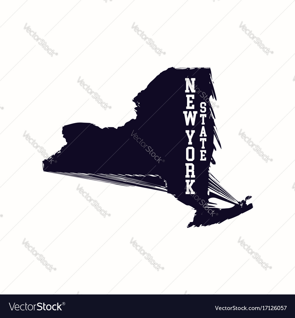 New york state abstract map