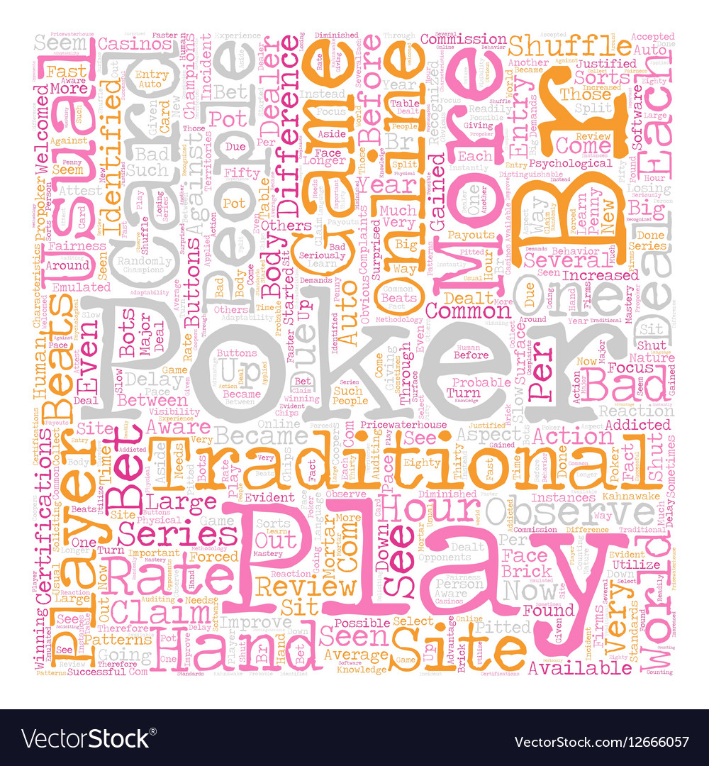 Play online poker 1 text background wordcloud