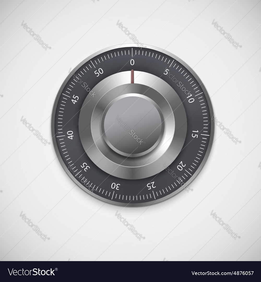 Realistic combination lock