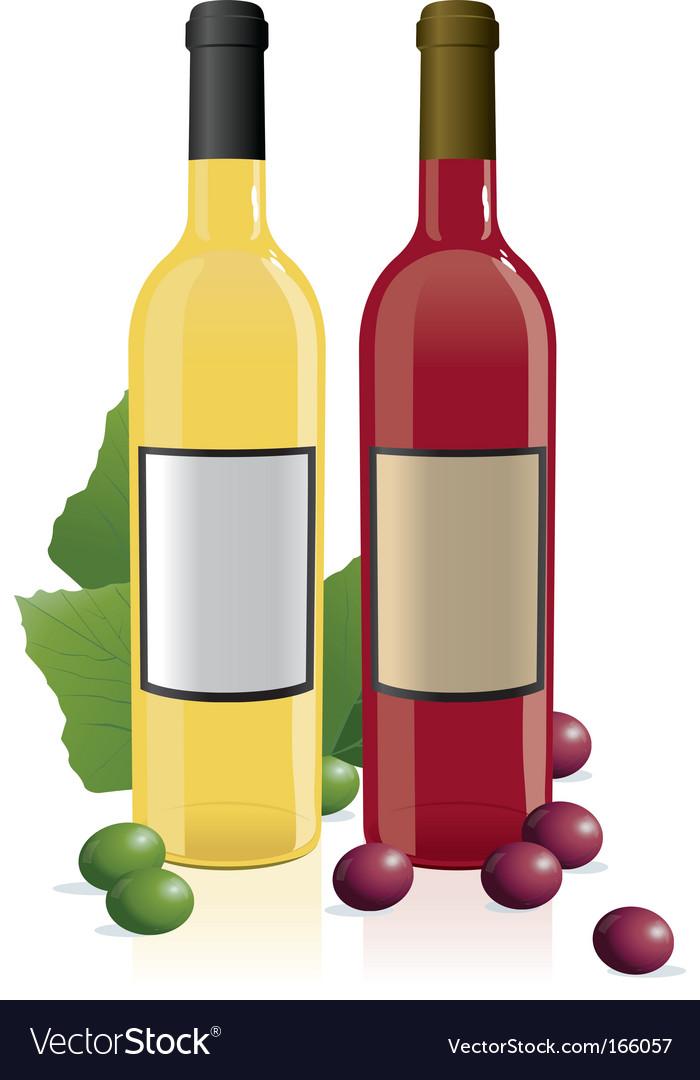Red amp white wine bottles