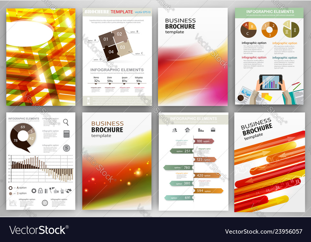 Red and orange business backgrounds and abstract