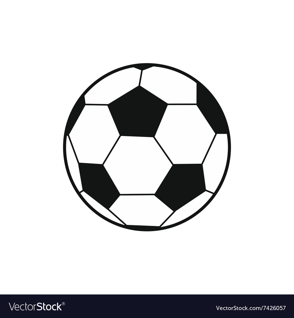 soccer ball black simple icon royalty free vector image  vectorstock