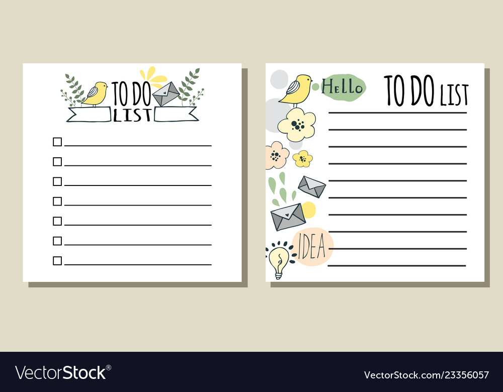 graphic regarding Printable Lists named Towards do lists printable list