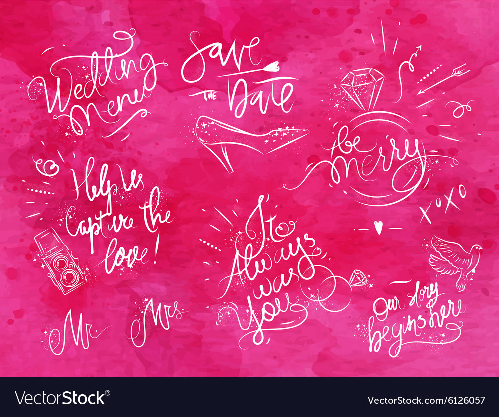 Wedding signs pink