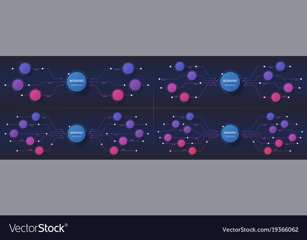 6 8 10 12 options infographic designs