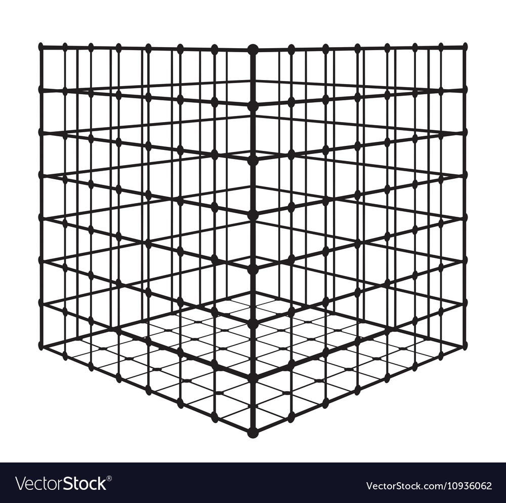 Abstract square with grid eps 10