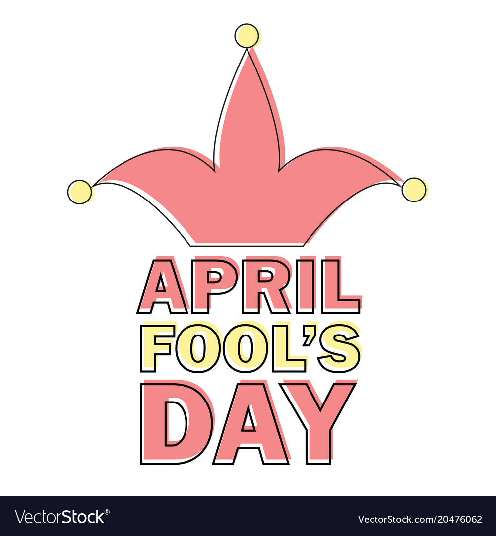 April fools day text and funny element