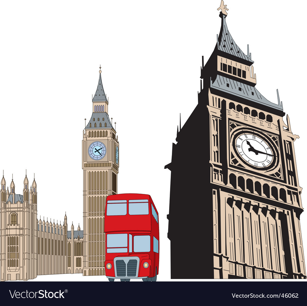 big ben royalty free vector image vectorstock rh vectorstock com big ben vector illustration big ben vector image