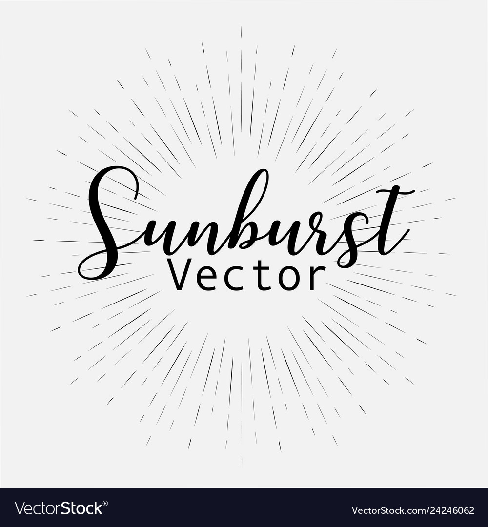 Sunburst style isolated on white background