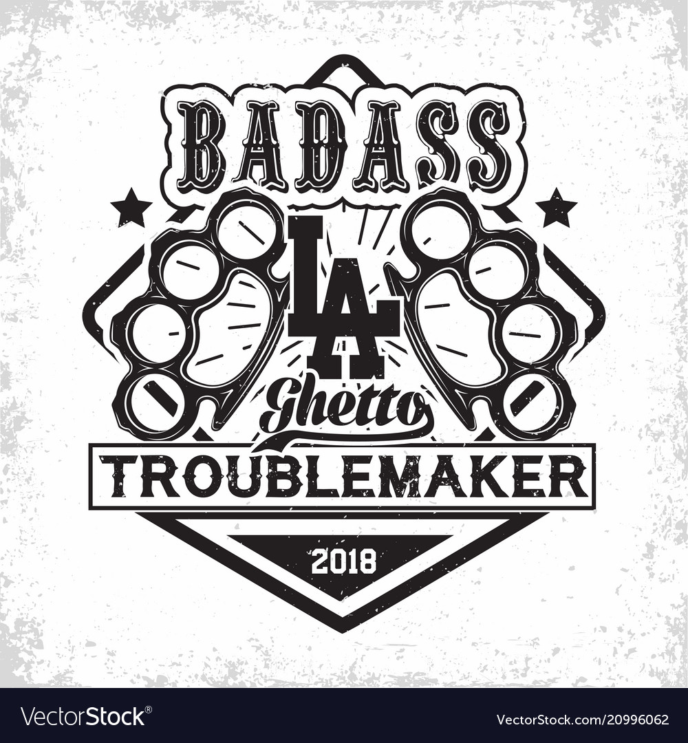 Vintage troublemakers emblem