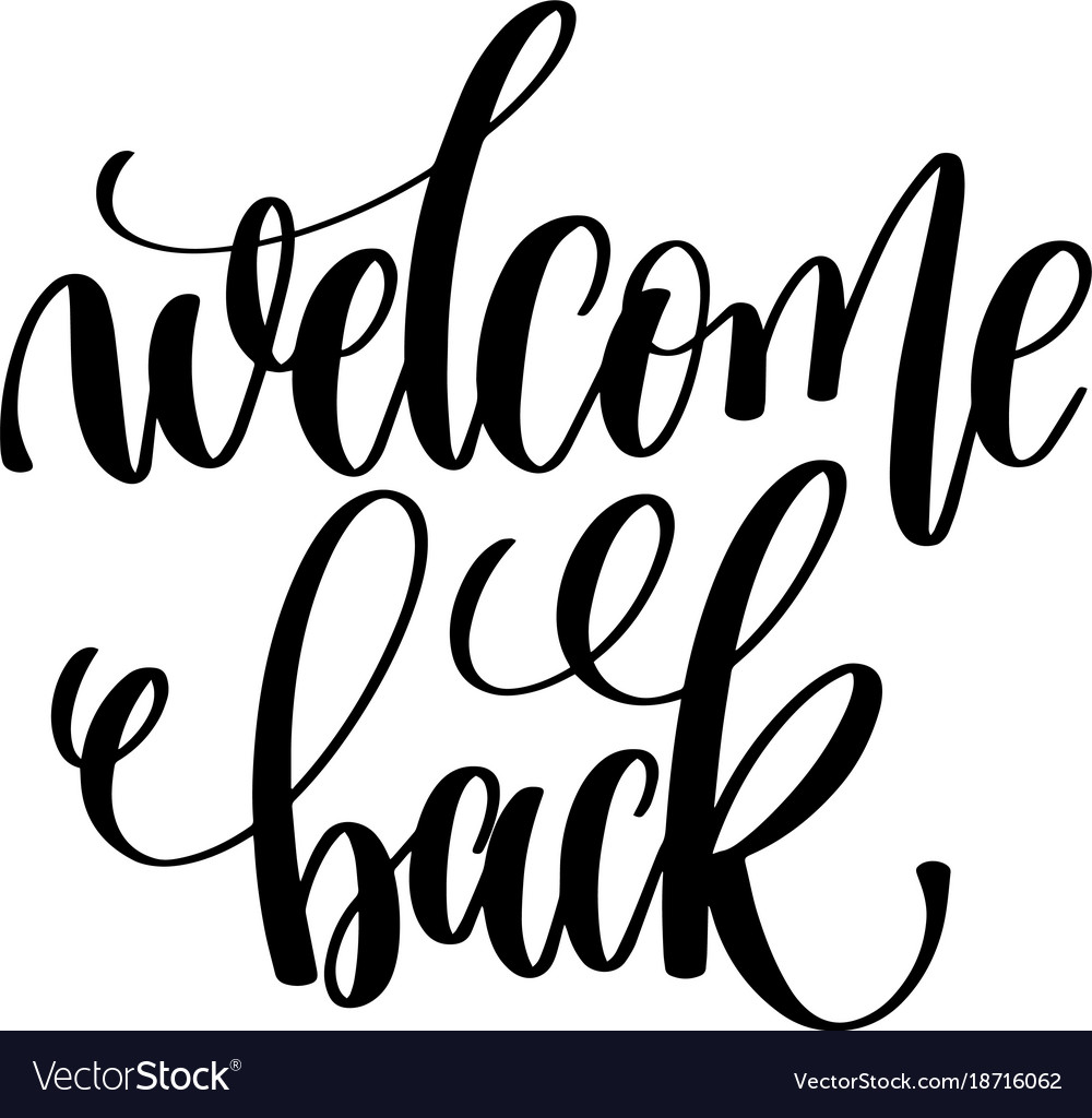 welcome back hand lettering inscription positive vector image bee clip art heart eps bee clip art heart