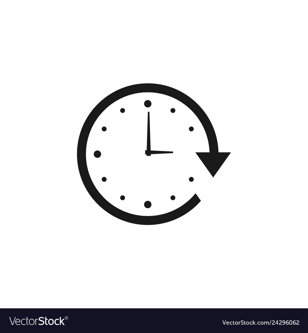 Work hours icon design template isolated