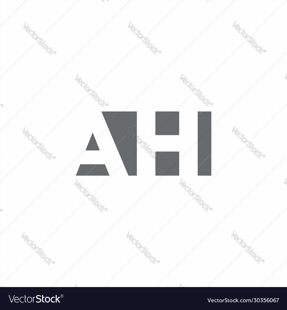 Ah Logo Monogram With Negative Space Style Design Vector Image