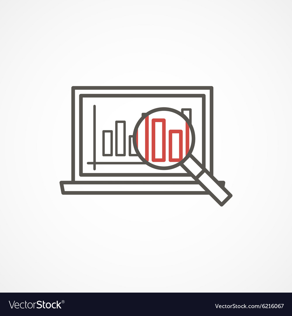 Analytics icon in trendy linear style