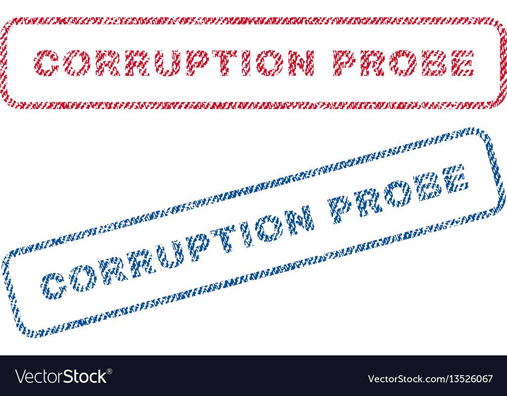 Corruption probe textile stamps