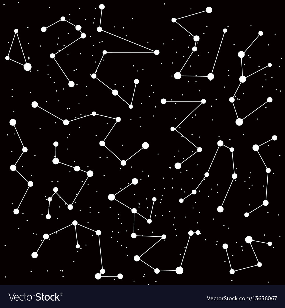 Cosmic background with constellations
