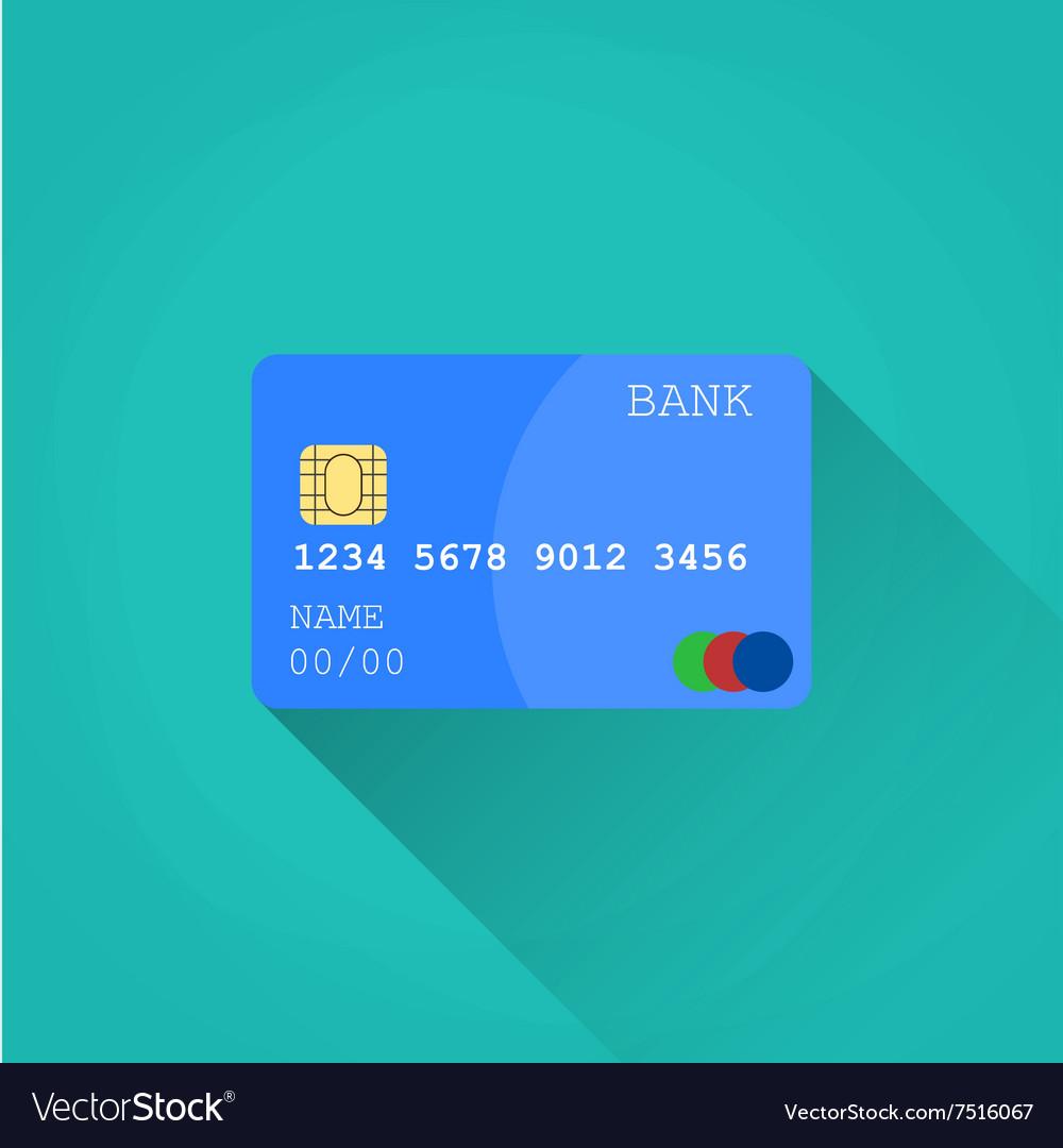 Credit card Flat design