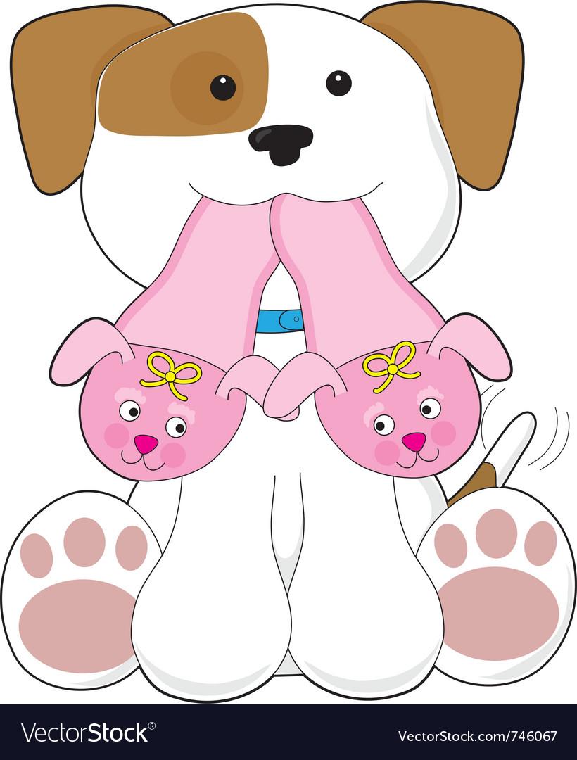 Cute puppy slippers