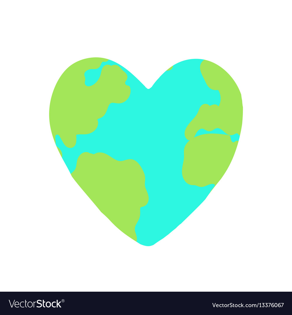 Heart shaped planet earth
